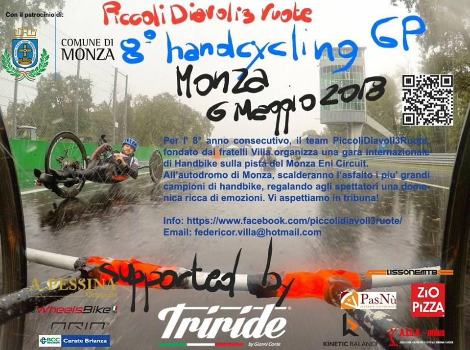 Locandina gara Handbike 6 maggio 2018